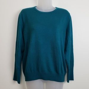 JM Collection Petite Teal Sweater